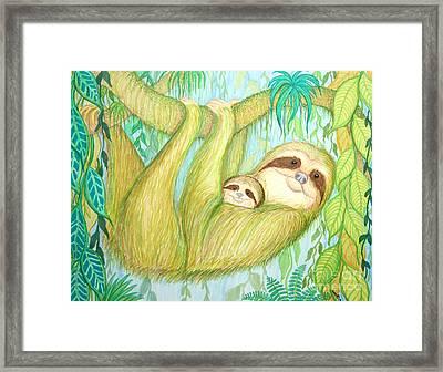 Soggy Mossy Sloth Framed Print