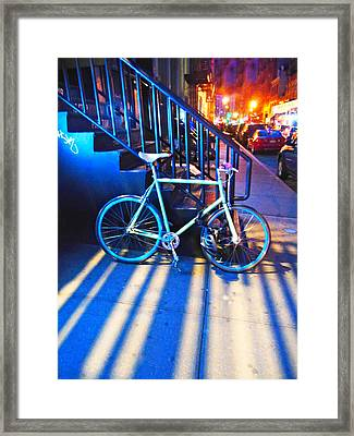Soho Bicycle  Framed Print by Joan Reese