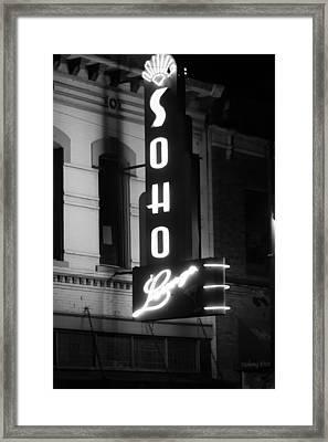 Soho Sign In Austin Framed Print