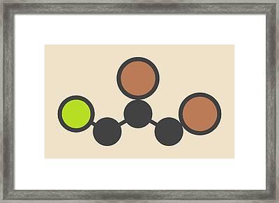 Soil Fumigant Molecule Framed Print