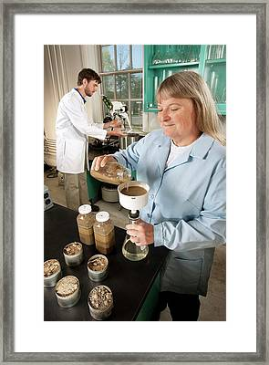 Soil Pesticides Research Framed Print by Peggy Greb/us Department Of Agriculture