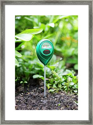Soil Ph Meter Framed Print by Science Photo Library