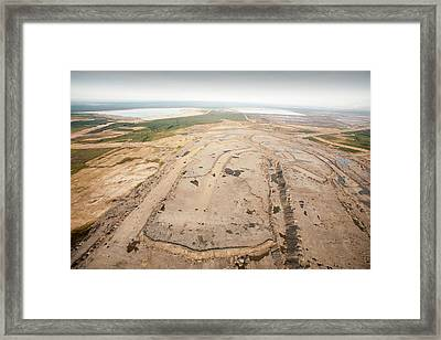 Soil Removed To Reach Tar Sands Framed Print by Ashley Cooper