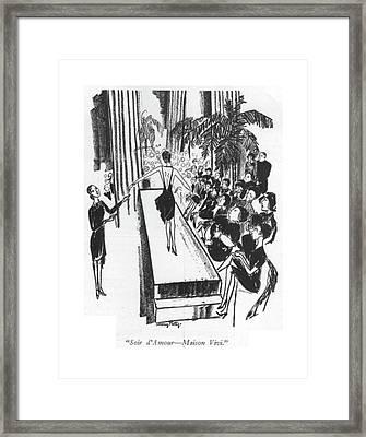 Soir D'amour - Maison Vivi Framed Print by Mary Petty