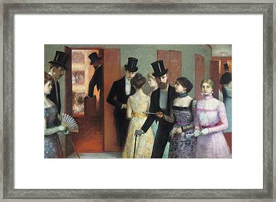 Soiree At The Opera Framed Print by Ernest Rouart