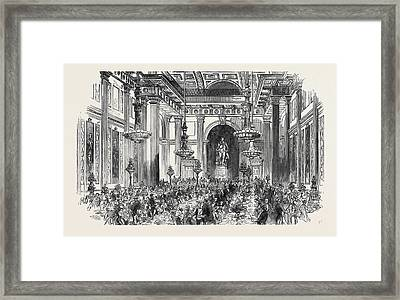 Soiree Of The Vegetarian Society Framed Print by English School