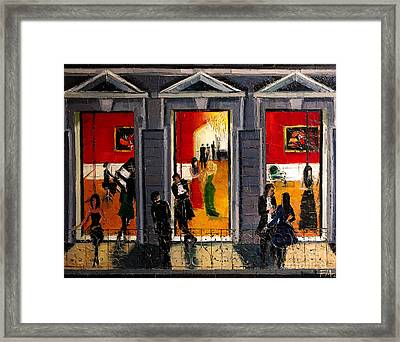 Soiree Parisienne Framed Print by Mona Edulesco
