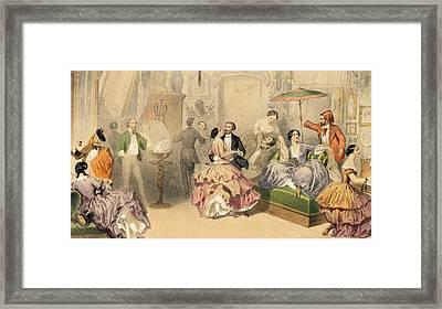 Soirees Parisiennes Framed Print by Henri de Montaut