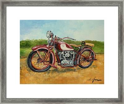 Sokol 1000 - Polish Motorcycle Framed Print