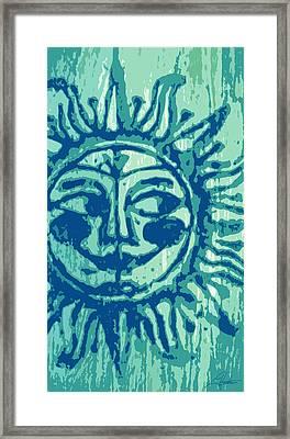 Sol -aqua Framed Print