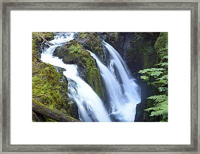 Sol Duc Waterfalls In Olympic National Park Framed Print by King Wu