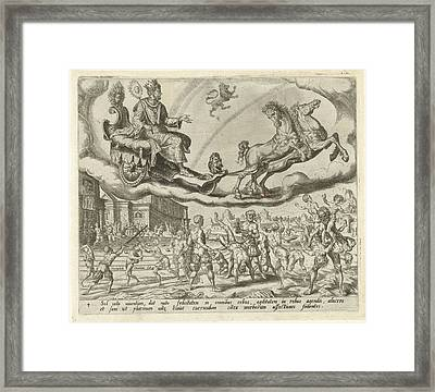 Sol, The Sun, And His Children, Harmen Jansz Muller Framed Print by Harmen Jansz Muller And Hieronymus Cock