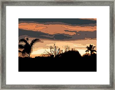 Framed Print featuring the digital art Solana Beach Sunset 2 by Kirt Tisdale
