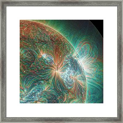 Solar Activity Framed Print by Alzate/sdo