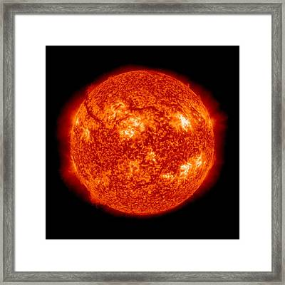 Solar Activity, Sdo Ultraviolet Image Framed Print by Science Photo Library