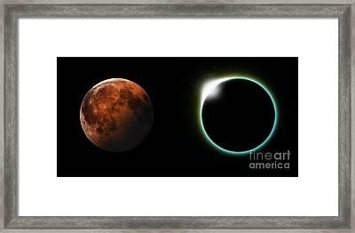 Solar And Lunar Eclipses Framed Print by Antony McAulay