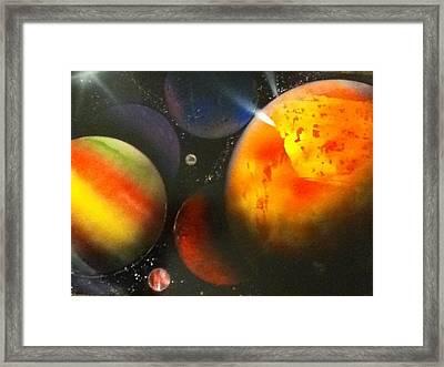 Solar Framed Print by Angel Griffin