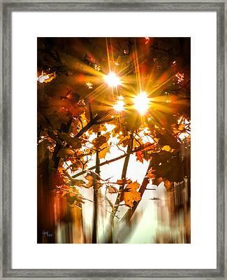 Solar Blast Framed Print