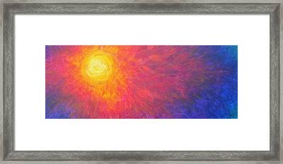 Solar Blaze Framed Print