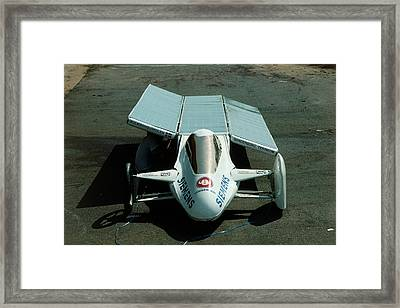 Solar Car Entrant For World Solar Challenge '87 Framed Print by Peter Menzel/science Photo Library