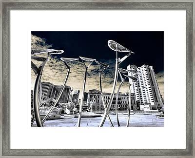 Solar City Framed Print by Wayne Sherriff