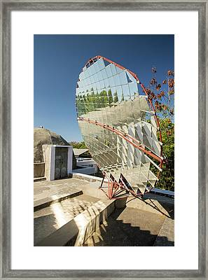 Solar Cookers At The Barefoot College Framed Print by Ashley Cooper