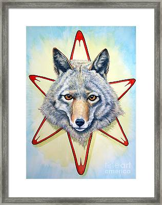 Solar Coyote Framed Print by Joey Nash