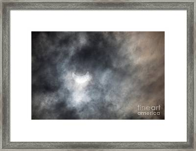 Solar Eclips Framed Print by Rebecca Cozart