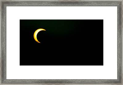 Solar Eclipse 2012 Framed Print by Angela J Wright