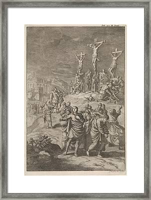 Solar Eclipse At The Death Of Christ, Jan Luyken Framed Print by Jan Luyken And William Broedelet