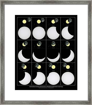 Solar Eclipse Framed Print by Eckhard Slawik