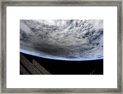 Solar Eclipse, Iss Image. Framed Print