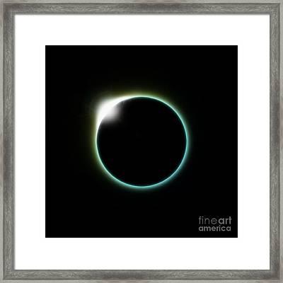 Solar Eclipse Moon Framed Print by Antony McAulay