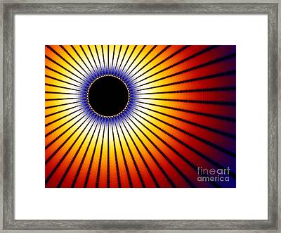 Solar Eclipse Of The Sun Framed Print by Shazam Images