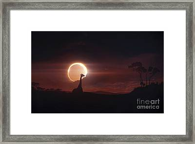 Solar Eclipse Over Africa Framed Print by Tobias Roetsch