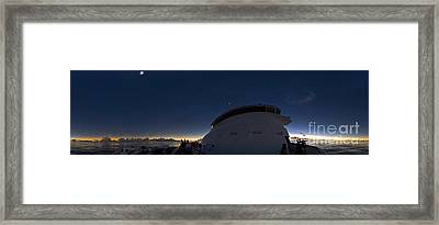 Solar Eclipse Panorama Framed Print