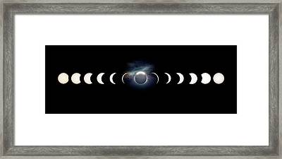 Solar Eclipse Photo Sequence Framed Print