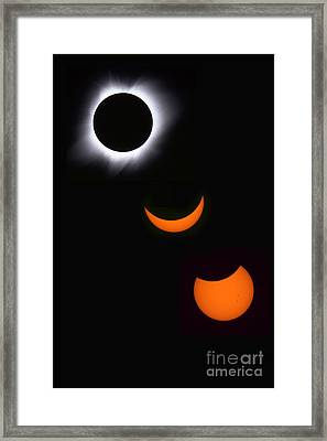 Solar Eclipse Sequence Framed Print by Francois Gohier