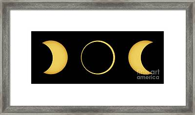 Solar Eclipse Sequence Framed Print by John Chumack