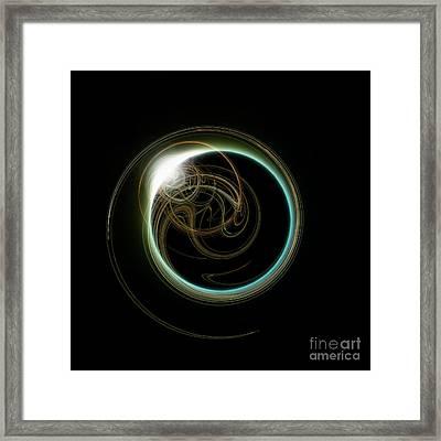 Solar Eclipse With Fractal Framed Print by Antony McAulay
