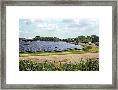 Solar Farm Framed Print