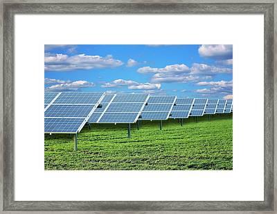 Solar Farm Framed Print by Victor De Schwanberg