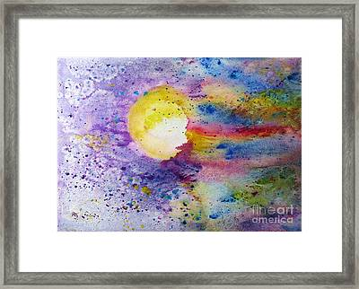 Solar Flair Framed Print