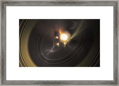 Solar Flare - A Fractal Creation Framed Print by Gina Lee Manley