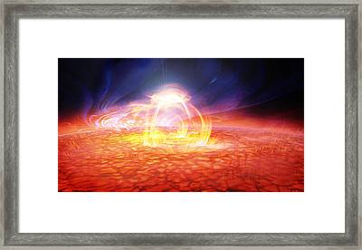 Solar Flare Framed Print by Don Dixon