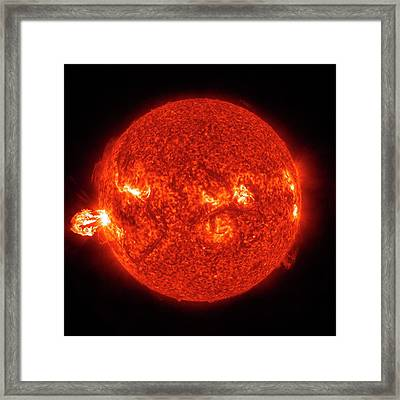 Solar Flare Framed Print by Nasa/gsfc-svs/sdo Science Team/virtual Solar Observatory