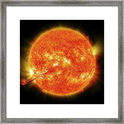 Solar Flare Framed Print by Nasa/gsfc/sdo