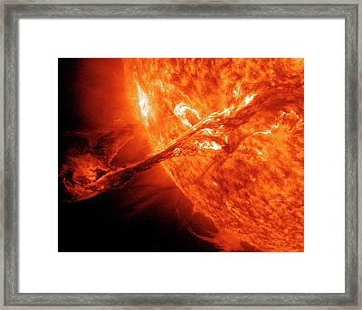 Solar Flare Framed Print by Solar Dynamics Observatory/nasa