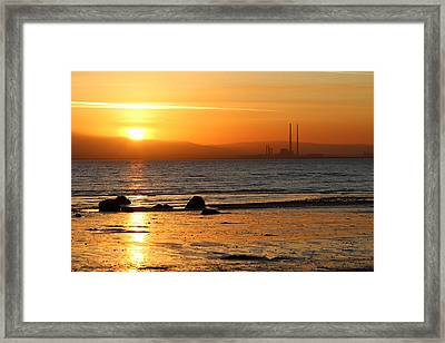 Solar Gold Framed Print