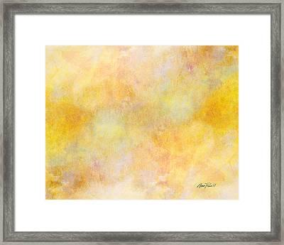 Solar Heat Abstract Art Framed Print by Ann Powell